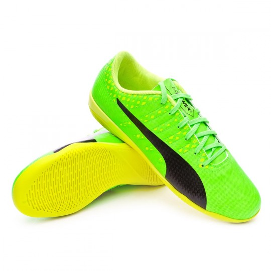 Zapatilla de fútbol sala  Puma evoPOWER Vigor 4 IT Green gecko-Black-Safety yellow