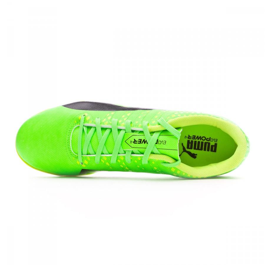 f11b66897ca3 Futsal Boot Puma evoPOWER Vigor 4 IT Green gecko-Black-Safety yellow -  Football store Fútbol Emotion