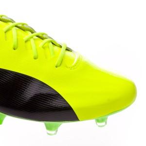 8e7315da78a Football Boots Puma evoSPEED 17 SL S FG Safety yellow-Black-Green ...