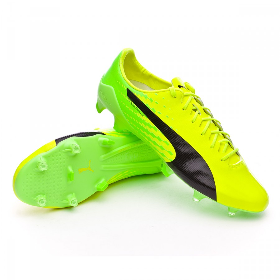 Chuteira Puma evoSPEED 17 SL S FG Safety yellow-Black-Green gecko ... 54689c057fc71