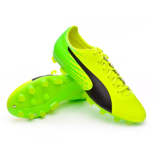 Chaussure  Puma evoSPEED 17.2 AG Safety yellow-Black-Green gecko