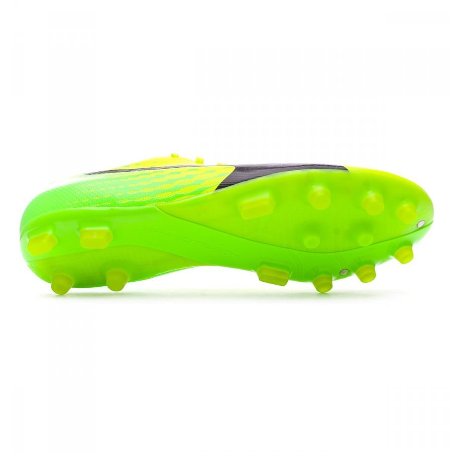 Bota de fútbol Puma evoSPEED 17.2 AG Safety yellow-Black-Green gecko ... 6b0101ad65dd1