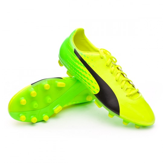 Chaussure  Puma evoSPEED 17.4 AG Safety yellow-Black-Green gecko