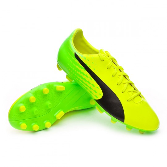 Chaussure  Puma evoSPEED 17.5 AG Safety yellow-Black-Green gecko