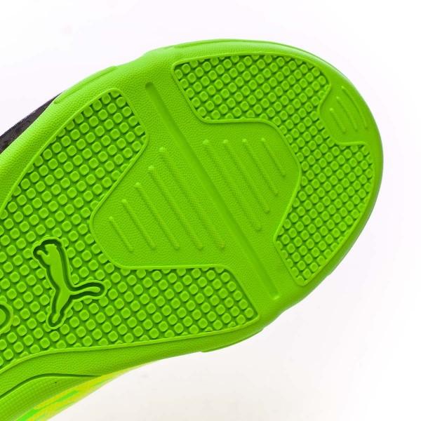 2073f8e27b9 Futsal Boot Puma evoSPEED 17.5 IT Safety yellow-Black-Green gecko - Football  store Fútbol Emotion