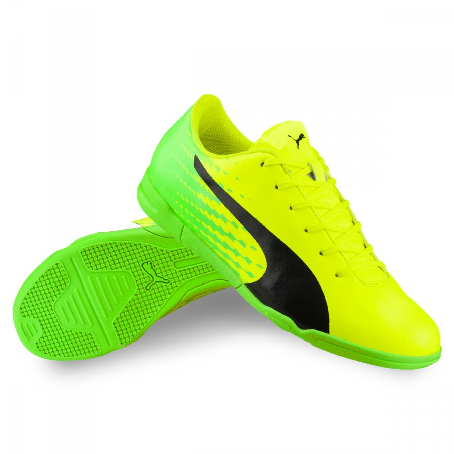842f968e3 Zapatilla Puma evoSPEED 17.5 IT Niño Safety yellow-Black-Green gecko -  Tienda de fútbol Fútbol Emotion