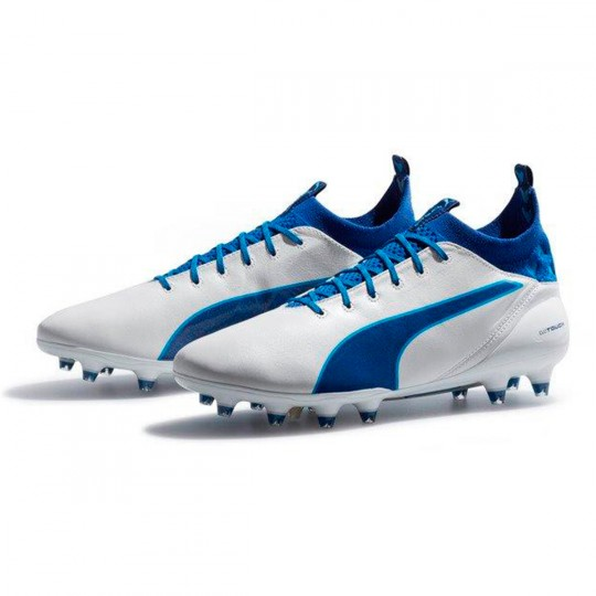 Chaussure  Puma evoTOUCH PRO FG White-True blue