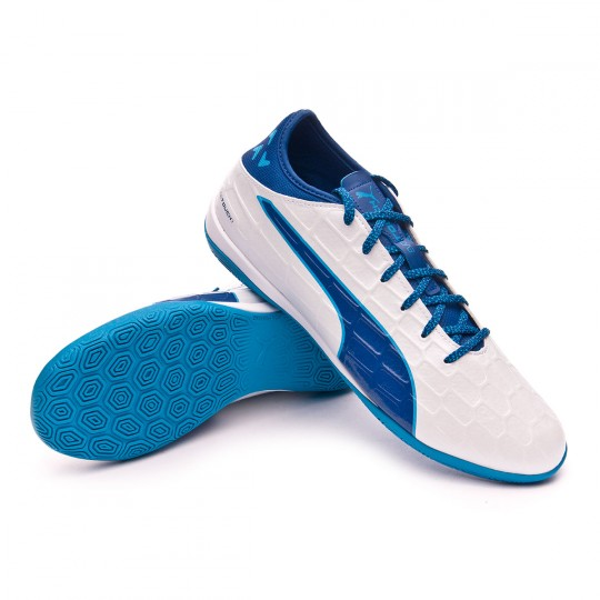 Chaussure de futsal  Puma evoTOUCH 3 IT White-Blue-Blue