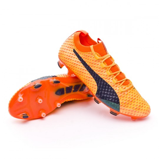 Bota  Puma evoPOWER Vigor 3D 1 FG Ultra yellow-Peacoat-Orange clown fish