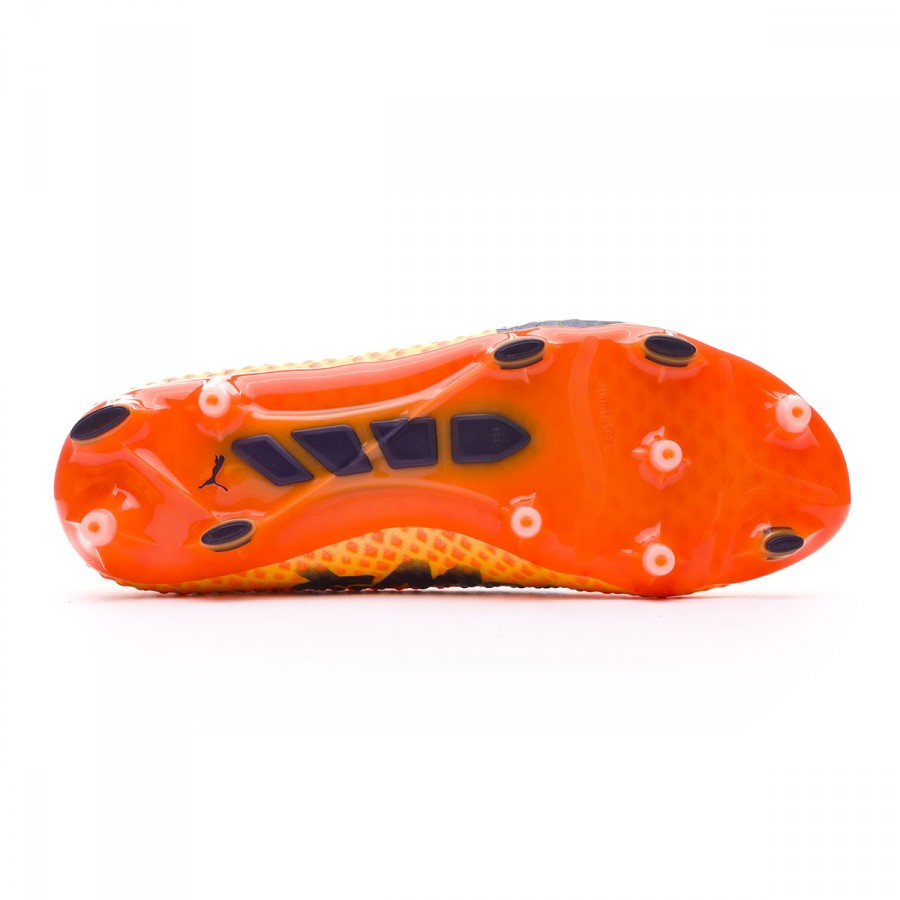 1b2d218f42ca Football Boots Puma evoPOWER Vigor 3D 1 FG Ultra yellow-Peacoat-Orange  clown fish - Football store Fútbol Emotion