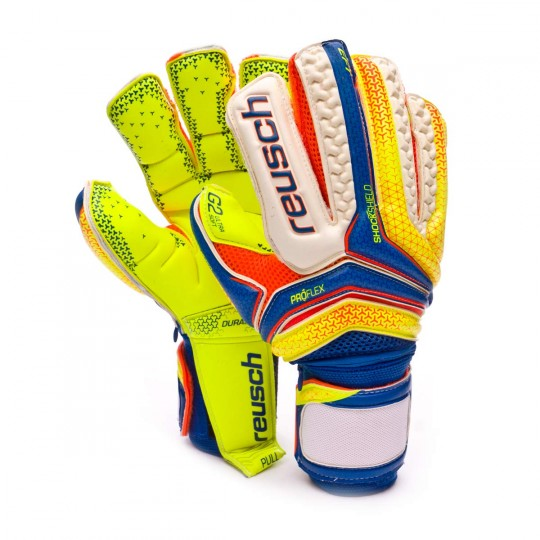 Luvas  Reusch Serathor Supreme G2 Ortho-Tec Dazzling blue-Safety yellow