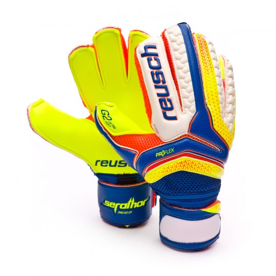 Luvas  Reusch Serathor Pro G2 Ortho-Tec Dazzling blue-Safety yellow
