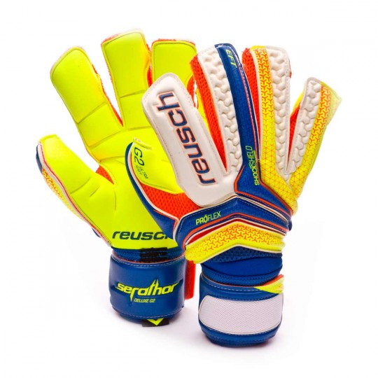 Guante  Reusch Serathor Deluxe G2 Dazzling blue-Safety yellow