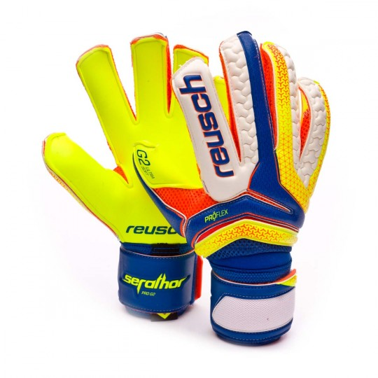 Guanto  Reusch Serathor Pro G2 Dazzling blue-Safety yellow
