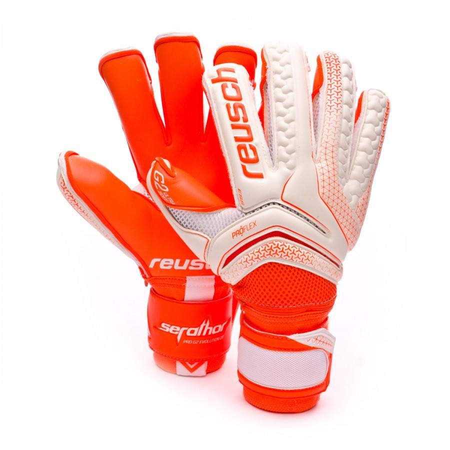 Glove Reusch Serathor Pro G2 Evolution Ortho-Tec White-Shocking orange -  Football store Fútbol Emotion 68c905c7f8