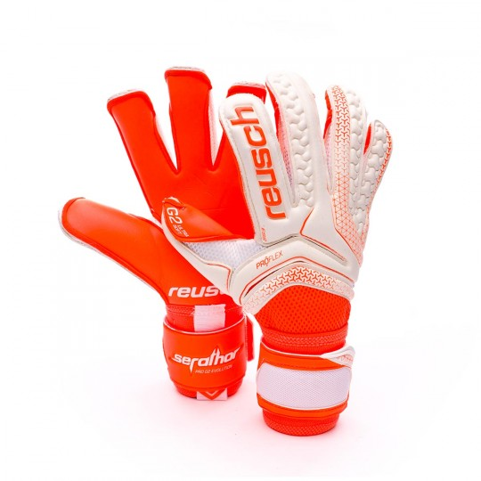 Luvas  Reusch Serathor Pro G2 Evolution White-Shocking orange