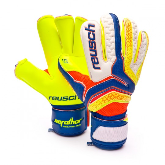 Guanto  Reusch Serathor Prime S1 Rollfinger Dazzling blue-Safety yellow
