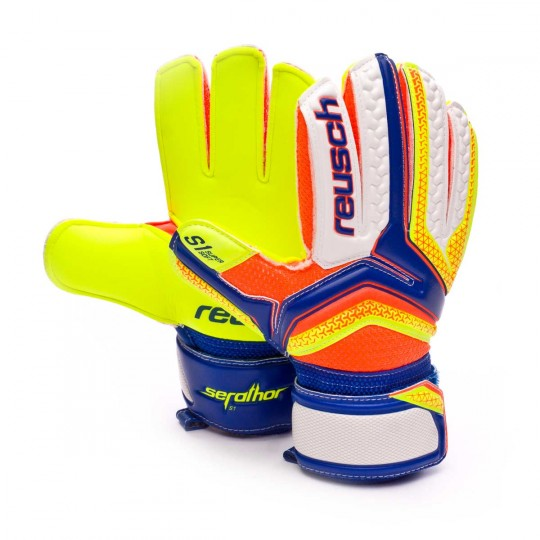 Guanto  Reusch jr Serathor S1 Dazzling blue-Safety yellow