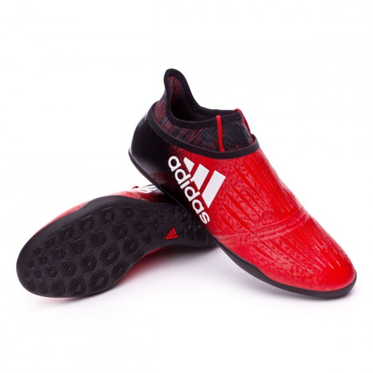 Zapatilla de fútbol sala  adidas X Tango 16+ Purechaos IN Red-Core black-White