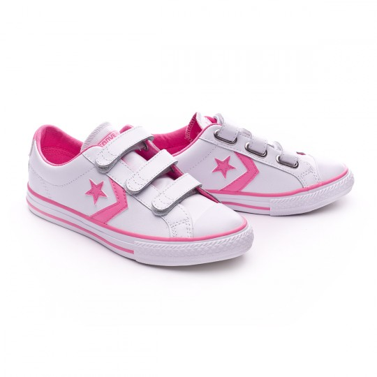 Sapatilha  Converse Jr Star Player 3V OX White-Pink