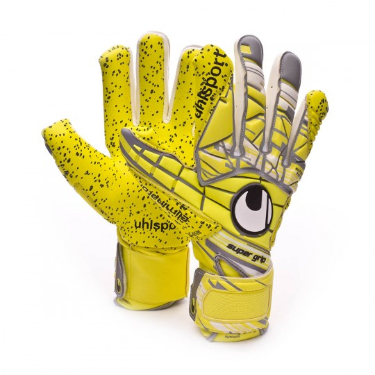 Luvas  Uhlsport Eliminator Supergrip HN Lite fluor yellow-Griffin grey-White