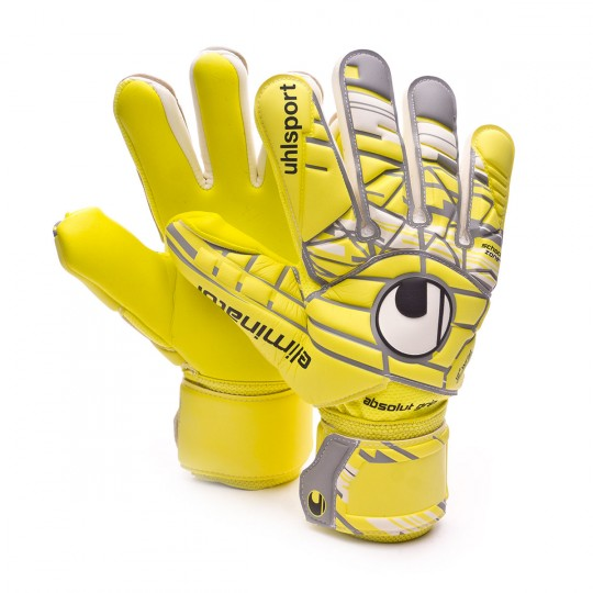 Luvas  Uhlsport Eliminator Absolutgrip HN Lite fluor yellow-Griffin grey-White