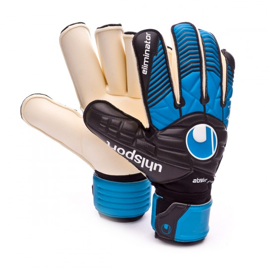 Guante  Uhlsport Eliminator Absolutgrip RF Black-Cyan-White