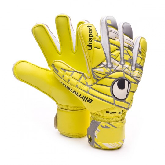 Luvas  Uhlsport Eliminator Supersoft Lite fluor yellow-Griffin grey-White