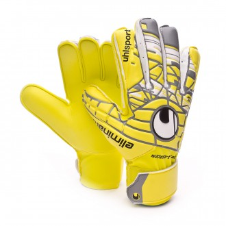 Glove  Uhlsport Jr Eliminator Soft SF Lite fluor yellow-Griffin grey-White
