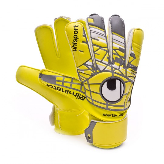Luvas  Uhlsport jr Eliminator Starter Soft Lite fluor yellow-Griffin grey-White