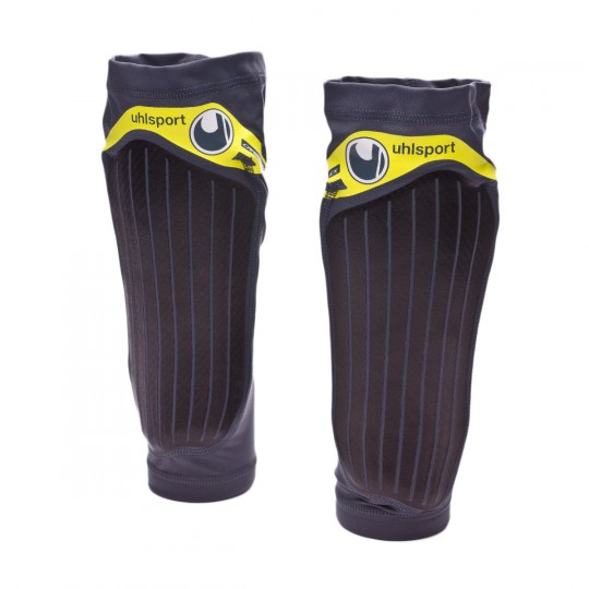 Espinillera  Uhlsport Carbon Flex Griffin grey-Lite Fluor yellow