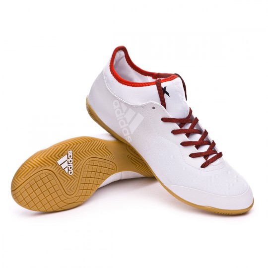 Zapatilla de fútbol sala  adidas X Tango 16.3 IN White-Red