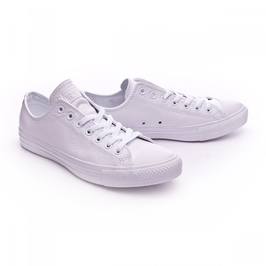 Trainers Converse Chuck Taylor All Star OX (Leather) White ... b8e00eb87