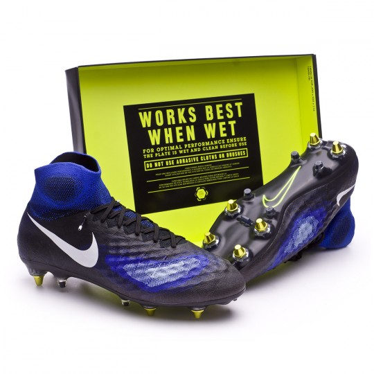 Boot  Nike Magista Obra II SG-Pro AntiClog Black-White-Paramount blue-Aluminium