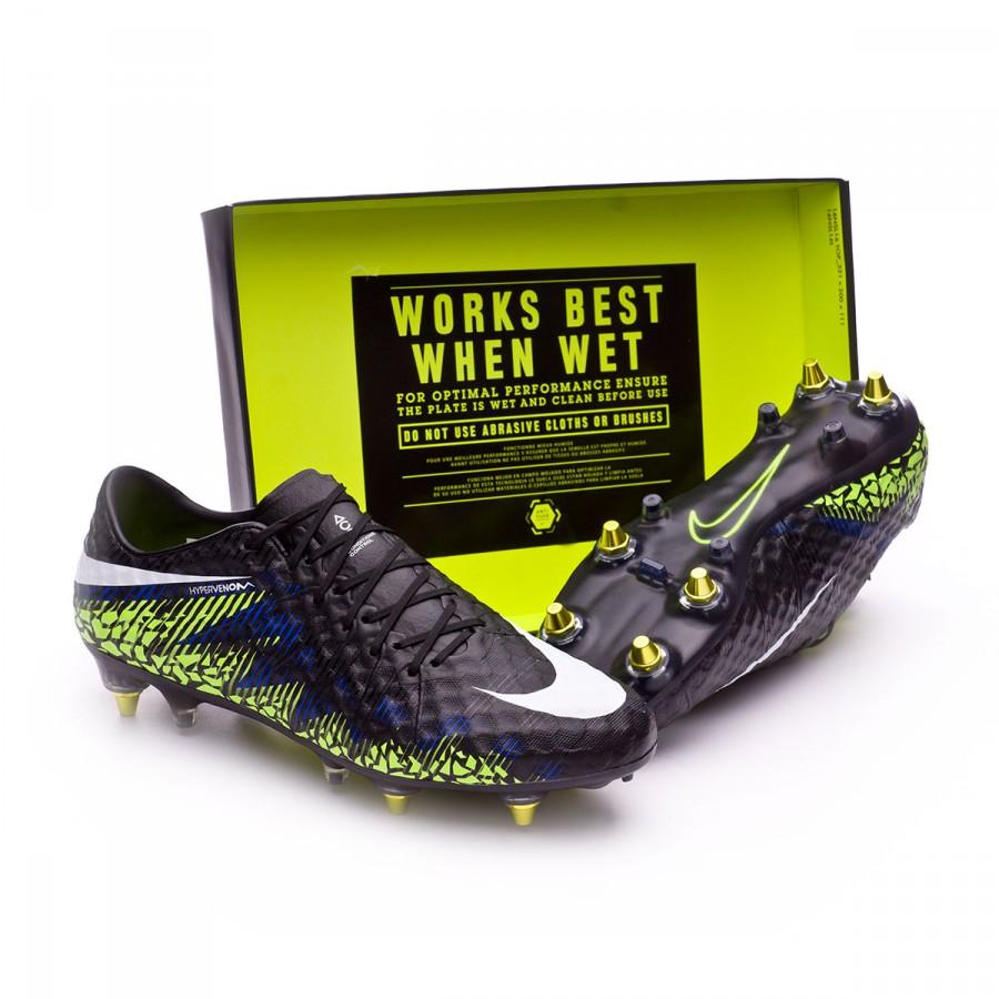 lowest price ee3b5 6c7c5 Nike Hypervenom Phinish SG Anti-Clog Football Boots. Black-White-Volt-Paramount  blue ...