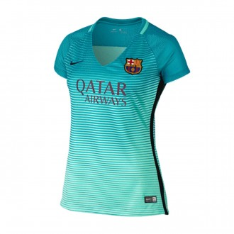 Camiseta  Nike FC Barcelona Mujer Dry Stadium SS 2016-2017 Green glow-Energy-Black