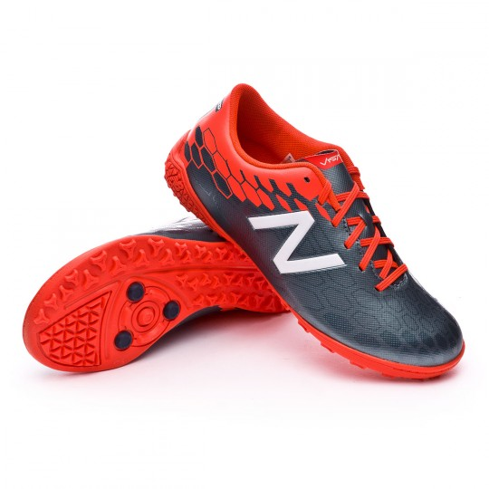 Zapatilla  New Balance jr Visaro 2.0 Control Turf Grey-Alpha orange