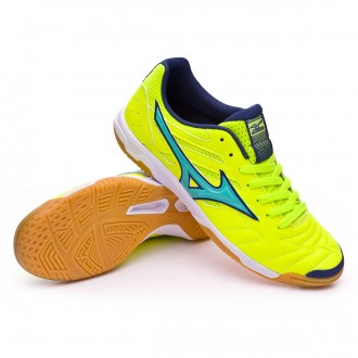 Sapatilha de Futsal  Mizuno Classic 2 IN Safety yellow-Turquoise