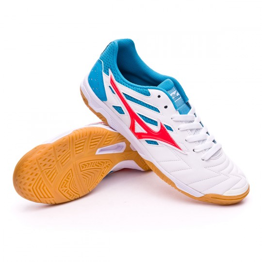 Boot  Mizuno Classic 2 IN White-Fiery coral
