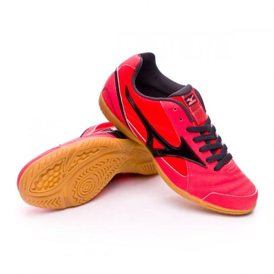Chaussure de futsal  Mizuno Club 2 IN Fiery coral-Black