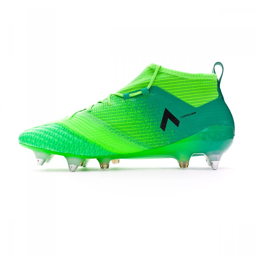 30d54316199 Football Boots adidas Ace 17.1 Primeknit SG Solar green-Core black -  Football store Fútbol Emotion
