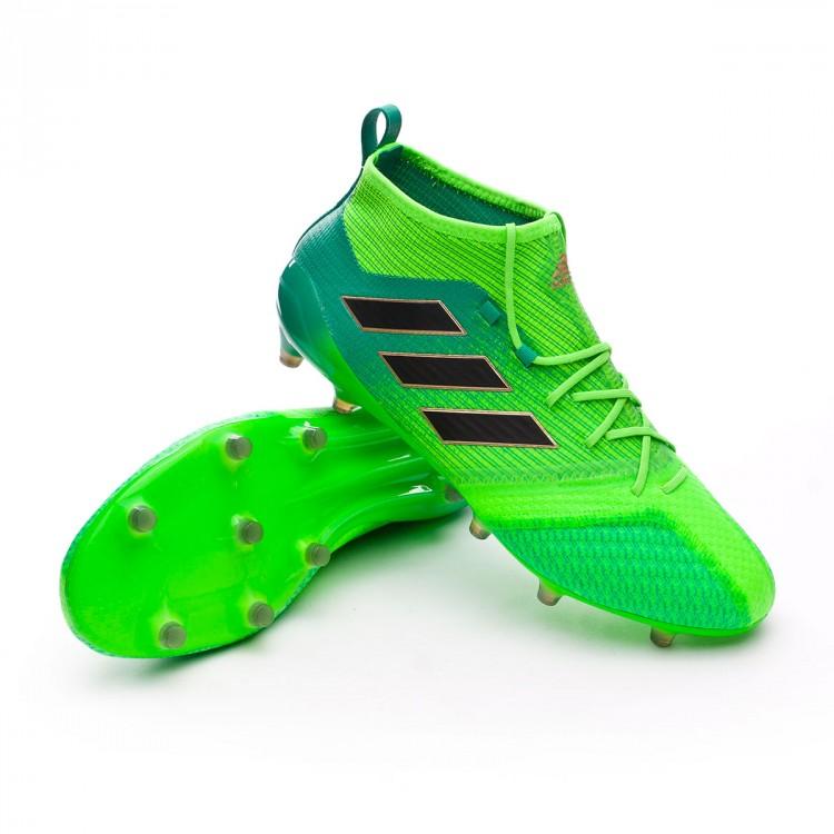 finest selection a0a07 75a05 bota-adidas-ace-17.1-primeknit-fg-solar-green-