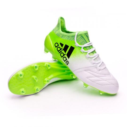 Chaussure  adidas X 16.1 FG Piel White-Core black-Solar green