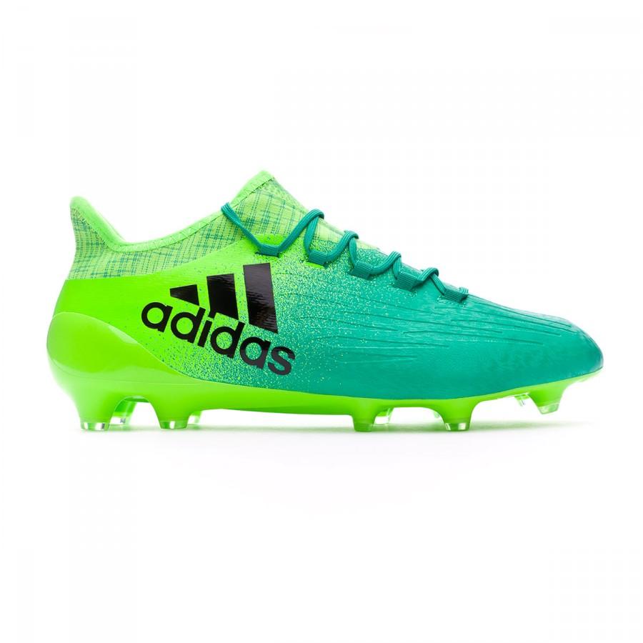 c42ea57190c6 Football Boots adidas X 16.1 FG Solar green-Core black - Football store  Fútbol Emotion