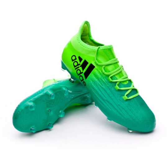 Chaussure  adidas X 16.2 FG Solar green-Core black