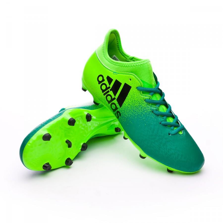 bf58a6acdb1c9 Zapatos de fútbol adidas X 16.3 FG Solar green-Core black - Tienda de  fútbol Fútbol Emotion