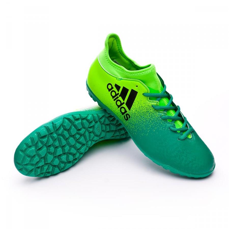 Football Boot adidas X 16.3 Turf Solar green-Core black - Football ... 85ea01641eb