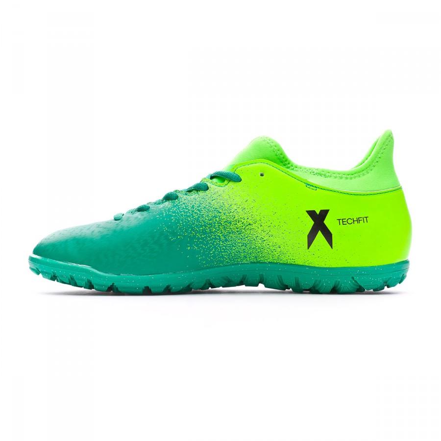 Football Boot adidas X 16.3 Turf Solar green-Core black - Football store  Fútbol Emotion f8ef5af883f