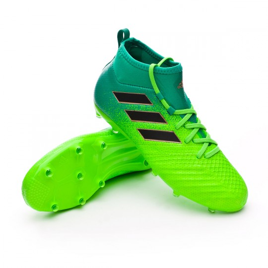 Chuteira  adidas jr Ace 17.1 FG Solar green-Core black