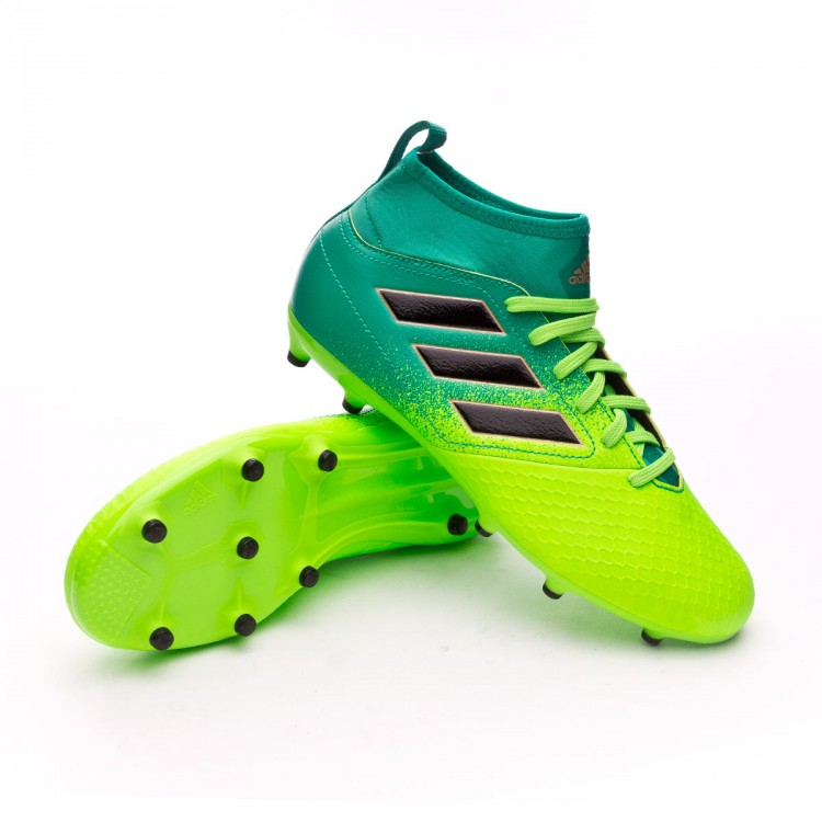 90ab82ecc1dce Bota de fútbol adidas Ace 17.3 Primemesh FG Niño Solar green-Core ...